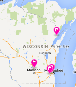 Map of our partner locations